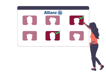 Allianz selecting candidates for their jobs while being a customer of College Life