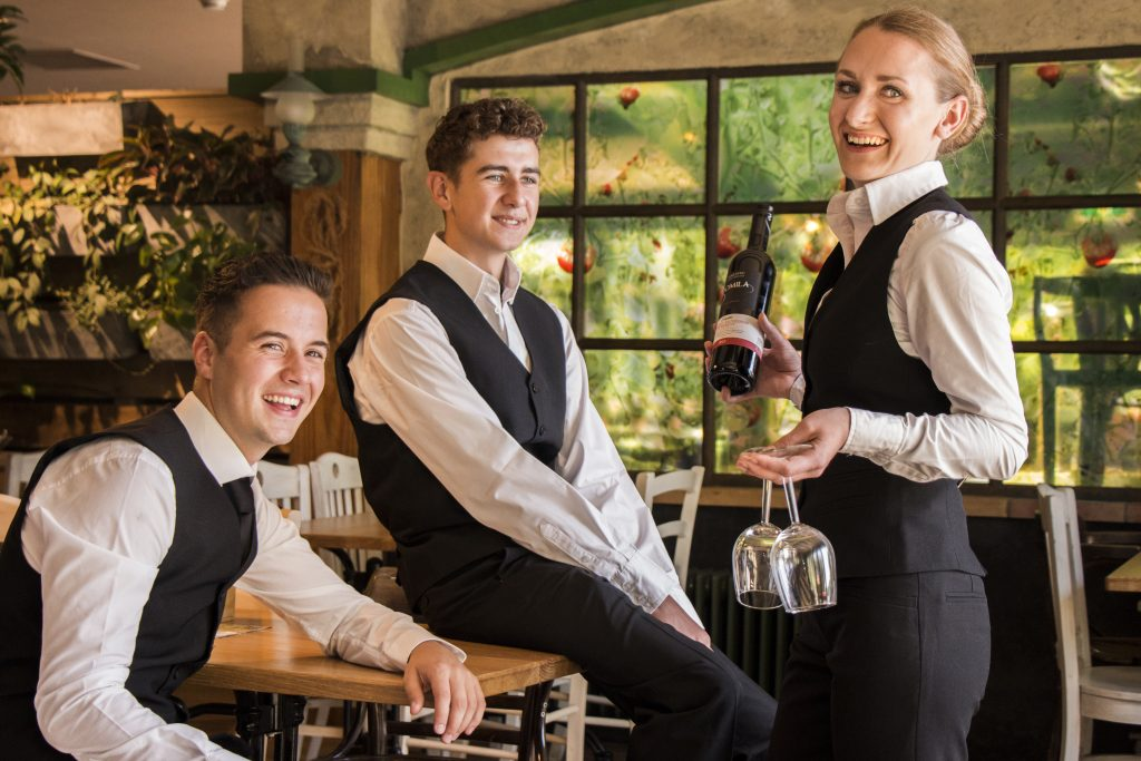 working at mise en place as a waiter